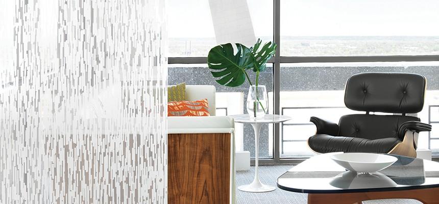custom decorative privacy window film chicago office